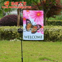 Solar Garden Stake With Butterfly Flag